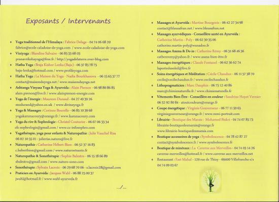 Listeintervenants